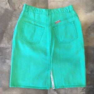 Vintage Coca Cola Green Denim Skirt